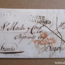 Sellos: CIRCULADA Y ESCRITA 1825 DE VALLADOLID A BAYONA BAYONNE FRANCIA. Lote 194591745