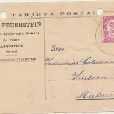 Sellos: TARJETA POSTAL CON MEMBRETE. DE LLAGOSTERA A MATARÓ DEL 14 NOV-1938? FRANQUEADO CON EDIFIL 749. Lote 194681512