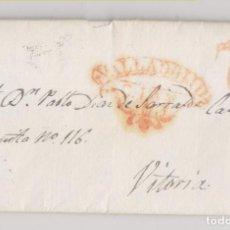 Sellos: PREFILATELIA. CARTA ENTERA. 1837. VALLADOLID A VITORIA. BUENA ESTAMPACIÓN. Lote 194736237