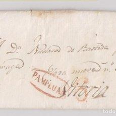 Sellos: PREFILATELIA. CARTA. PAMPLONA, NAVARRA, A VITORIA. 1837. INTERESANTE TEXTO CARLISTA. CARLISMO. Lote 194736646
