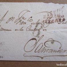 Sellos: CIRCULADA 1830 DE LAREDO A SANTANDER. Lote 194911351