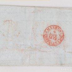 Sellos: PREFILATELIA. CARTA CON TEMPRANO BAEZA DE LLEGADA MANRESA DE 9 DE NOVIEMBRE DE 1842. LUJO. BARCELONA. Lote 194921900