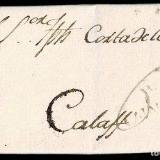 Sellos: 1797. OLIANA A CALAF. MARCA +/CATALVÑA TINTA ESCRIBIR Nº 1 PORTEO MNS. 6 CUARTOS. INTERESANTE Y RARA. Lote 195271586