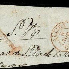 Sellos: 1855. ALCIRA. FRAGMENTO PLICA JUDICIAL. ESPECTACULAR A DE ABONO Y FECHADOR TIPO I. MUY INTERESANTE.. Lote 195271937