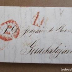 Sellos: CIRCULADA Y ESCRITA 1847 A GUADALAJARA ALCARRIA. Lote 195425433
