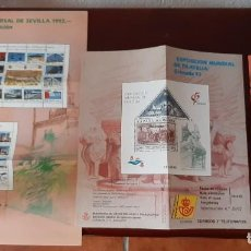 Sellos: FOLLETOS EMISIÓN EXPO' 92. Lote 196668421