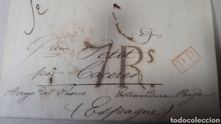CARTA DE PARIS A CACERES AÑO 1847 VER ESTADO EN FOTOGRAFIAS C247 (Filatelia - Sellos - Prefilatelia)