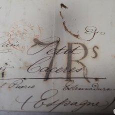 Sellos: CARTA DE PARIS A CACERES AÑO 1847 VER ESTADO EN FOTOGRAFIAS C247. Lote 197883865
