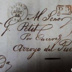 Sellos: CARTA DE PARIS A CACERES AÑO 1845 VER ESTADO EN FOTOGRAFIAS C248. Lote 197883877