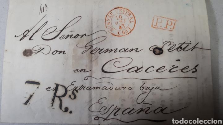 CARTA DE PARIS A CACERES AÑO 1843 VER ESTADO EN FOTOGRAFIAS C249 (Filatelia - Sellos - Prefilatelia)