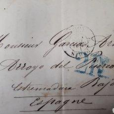 Sellos: CARTA DE PARIS A CACERES AÑO 1856 VER ESTADO EN FOTOGRAFIAS C257. Lote 197883983