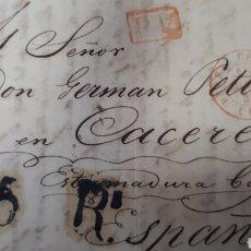 Sellos: CARTA DE PARIS A CACERES AÑO 1841 VER ESTADO EN FOTOGRAFIAS C258. Lote 197883997