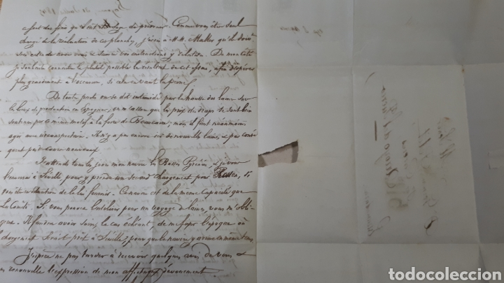 Sellos: CARTA DE PARIS A CACERES AÑO 1845 VER ESTADO EN FOTOGRAFIAS C259 - Foto 4 - 197884020
