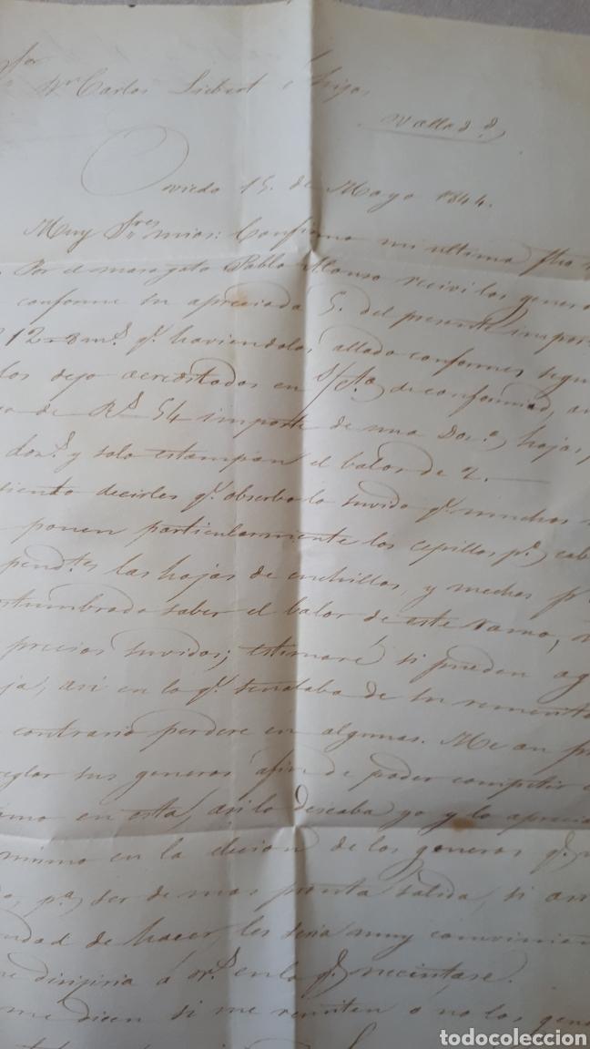 Sellos: CARTA DE ASTURIAS A VALLADOLID AÑO 1844 C264 - Foto 2 - 197906372