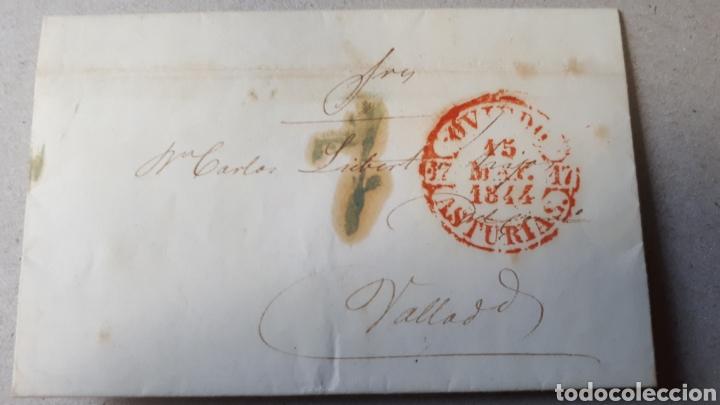CARTA DE ASTURIAS A VALLADOLID AÑO 1844 C264 (Filatelia - Sellos - Prefilatelia)