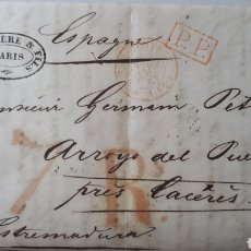 Sellos: CARTA DE PARIS A CACERES AÑO 1841 C267. Lote 197908891