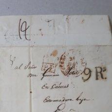 Sellos: CARTA DE PARIS A CACERES AÑO 1837 C268. Lote 197909318