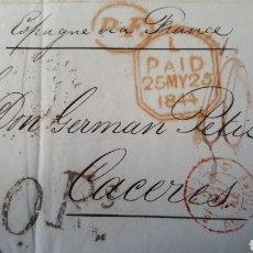 Sellos: CARTA DE LONDRES A CACERES AÑO 1844 C270. Lote 197911720