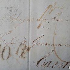 Sellos: CARTA DE LONDRES A CACERES AÑO 1839 C273. Lote 197915276
