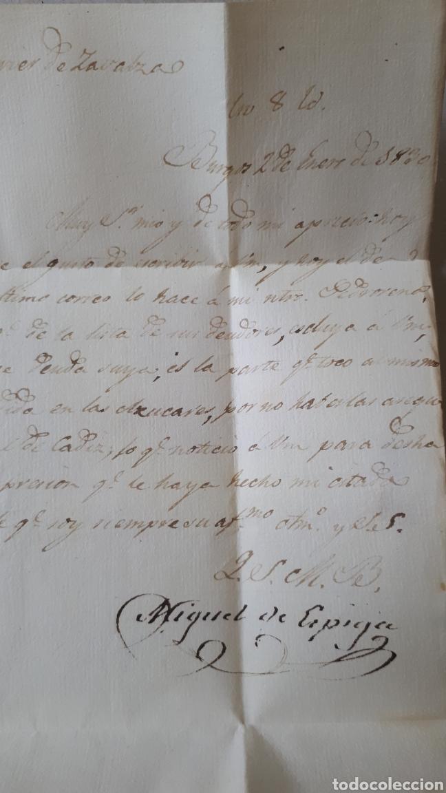 Sellos: CARTA DE BURGOS A LOGROÑO AÑO 1830 C281 - Foto 2 - 197918098