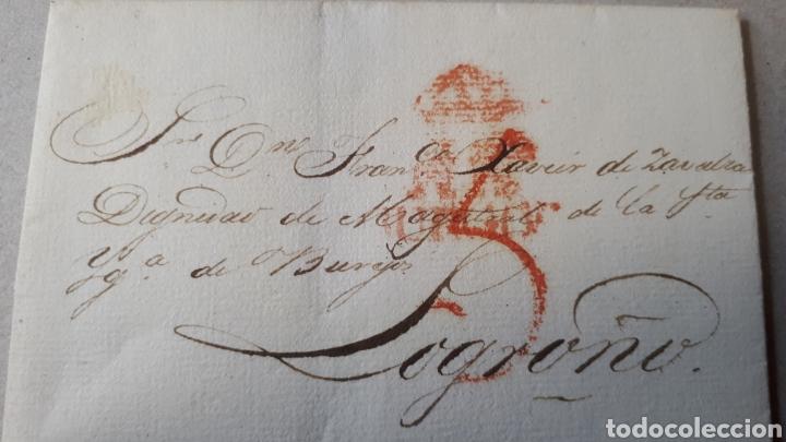 CARTA DE BURGOS A LOGROÑO AÑO 1830 C281 (Filatelia - Sellos - Prefilatelia)
