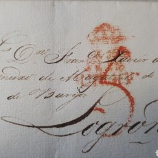 Sellos: CARTA DE BURGOS A LOGROÑO AÑO 1830 C281. Lote 197918098