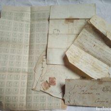 Sellos: LOTE CARTAS PREFILATELIA 1864. CANGAS DE TINEO.ASTURIAS.SELLOS.FISCALES. ISABEL II.CORREOS. Lote 198458281