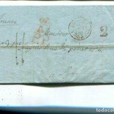 Sellos: 1840 CARTA PREFILATELIA. MADRID A FRANCIA. PORTE PAGADO HASTA LA FRONTERA. Lote 199088461