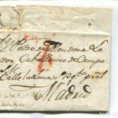 Sellos: 1833 CARTA COMPLETA PREFILATELIA. VALENCIA DE ALCÁNTARA (CÁCERES) A MADRID. ESTREMADURA BAXA. Lote 199088637