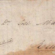 Sellos: CORREO DESINFECTADO- 1837 - DE LIORNA (LIVORNO) ITALIA - DESTINO REUS - COMERCIALIZACIÓN DE ACEITES. Lote 199114886