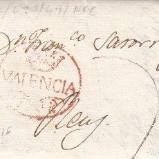 Sellos: PREFILATELIA CARTA COMPLETA DE JOAQUIN PIÑOL EN VALENCIA A REUS -1816 . Lote 199153953