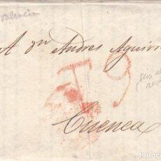 Sellos: PREFILATELIA - CARTA COMPLETA DE VALENCIA - IMPRESA POR DOMINGO- COMISIONISTA A CUENCA 1834. Lote 199214203