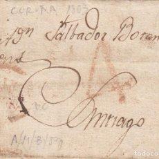 Sellos: PREFILATELIA - CARTA COMPLETA DE LA CORUÑA A SANTIAGO -1803-. Lote 199216385
