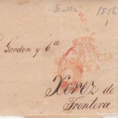 Sellos: PREFILATELIA - CARTA COMPLETA DE SEVILLA A JEREZ DE LA FRONTERA - 1806- CON PRECIOS DE PRODUCTOS.. Lote 199216823