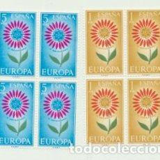 Sellos: ESPAÑA 1964. EUROPA CEPT EN BLOQUE DE CUATRO. EDIFIL 1613-14 **. Lote 213541658