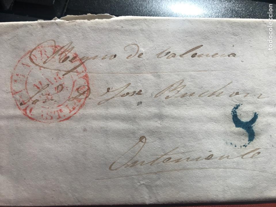 PREFILATELIA. MADRID .REINO VALENCIA. ONTENIENTE. 1847 (Filatelia - Sellos - Prefilatelia)