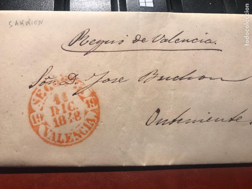 PREFILATELIA. SARRIÓN. SEGORBE. ONTENIENTE. 1848 (Filatelia - Sellos - Prefilatelia)