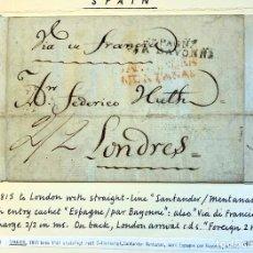 Sellos: 1815. SANTANDER-LONDRES. ENVUELTA COMPLETA.. Lote 200765603