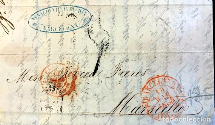 1853. BARCELONA-MARSELLA. ENVUELTA COMPLETA (Filatelia - Sellos - Prefilatelia)