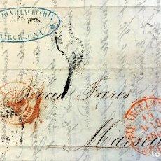 Sellos: 1853. BARCELONA-MARSELLA. ENVUELTA COMPLETA. Lote 201164506