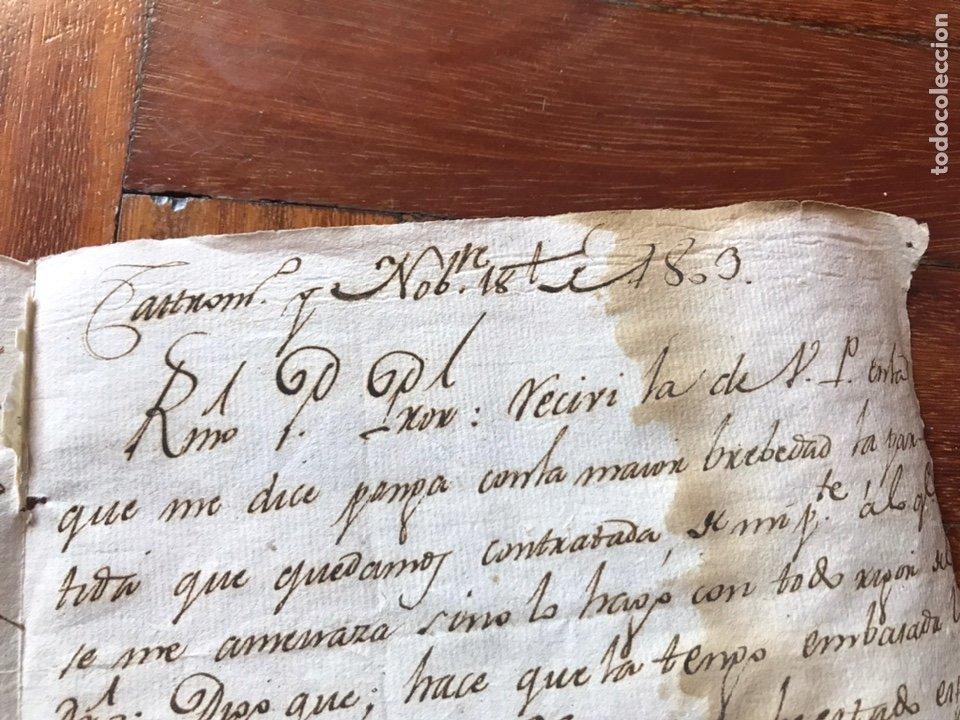 Sellos: PREFILATELIA 1803. CAST. V. PALENCIA NEGRO. CARTA DE CASTROMOCHO A VALLADOLID. - Foto 2 - 202759760