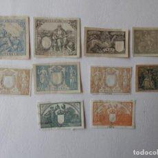 Sellos: TIMBROLOGIA - 8 TIMBRES ESPAÑA 1882,1887,1897,1900,1902,1903,1906,1910 DIFERENTES VALORTES. Lote 204593071
