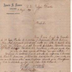 Sellos: ORENSE, TELEGRAMAS - BOVILLO- AÑO 1920. VER FOTO. Lote 205098885