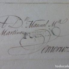 Sellos: CARTE PREFILATELIA PUEBLA DE LOS ANGELES A VERACRUZ MEXICO 1829. Lote 205443736