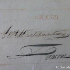 Sellos: CARTE PREFILATELIA MEXICO A VERACRUZ MEXICO 1828. Lote 205443791