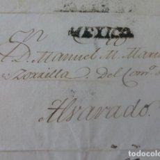 Sellos: CARTE PREFILATELIA MEXICO A ALVARADO MEXICO 1824. Lote 205443836