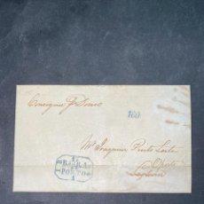 Sellos: CARTA DE LIVERPOOL A OPORTO POR VAPOR. 1844.. Lote 205667258
