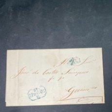 Sellos: CARTA DE OPORTO A GUIMARAES. 1852.. Lote 205667435