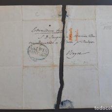 Timbres: CARTA COMPLETA, MARCA SANTIAGO GALICIA A USAGRE BADAJOZ, 1841, ESCRITA POR HIPÓLITO OTERO. Lote 205770122