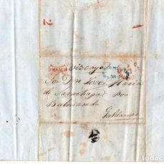 Sellos: SOBRE PREFILATELIA MEJICO A GALDAMES, BIZKAIA. AÑO 1848. Lote 205790266
